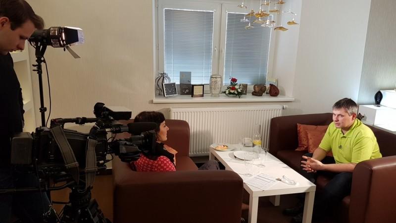 Natáčení reportáže z Krematoria zvířat v České Lípě pro publicistický pořad Víkend na TV Nova